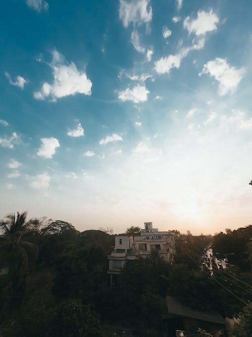 Imagine de stoc gratuită din cer albastru, cer senin, seară