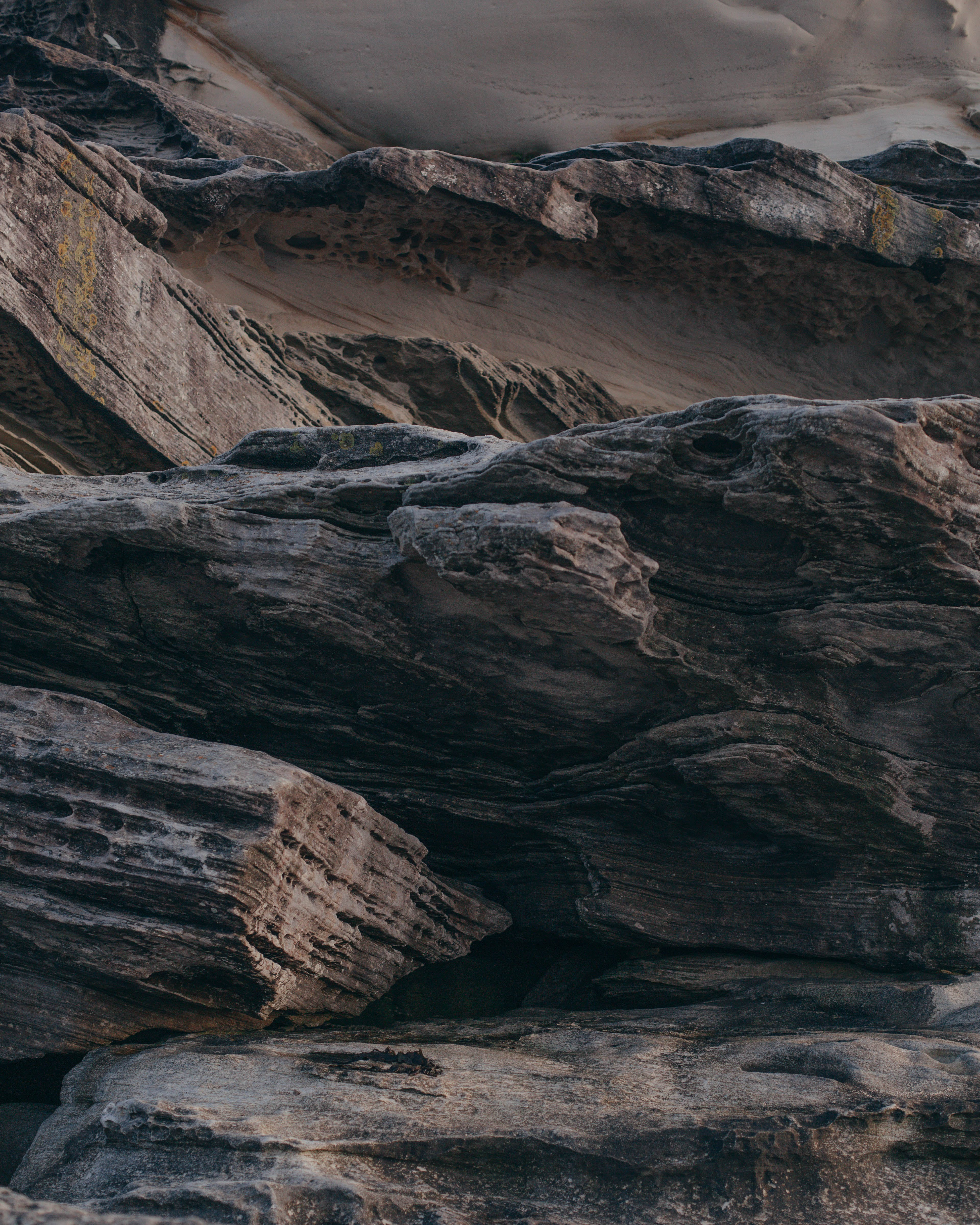 Selective Focus Photography of Rock Formation
