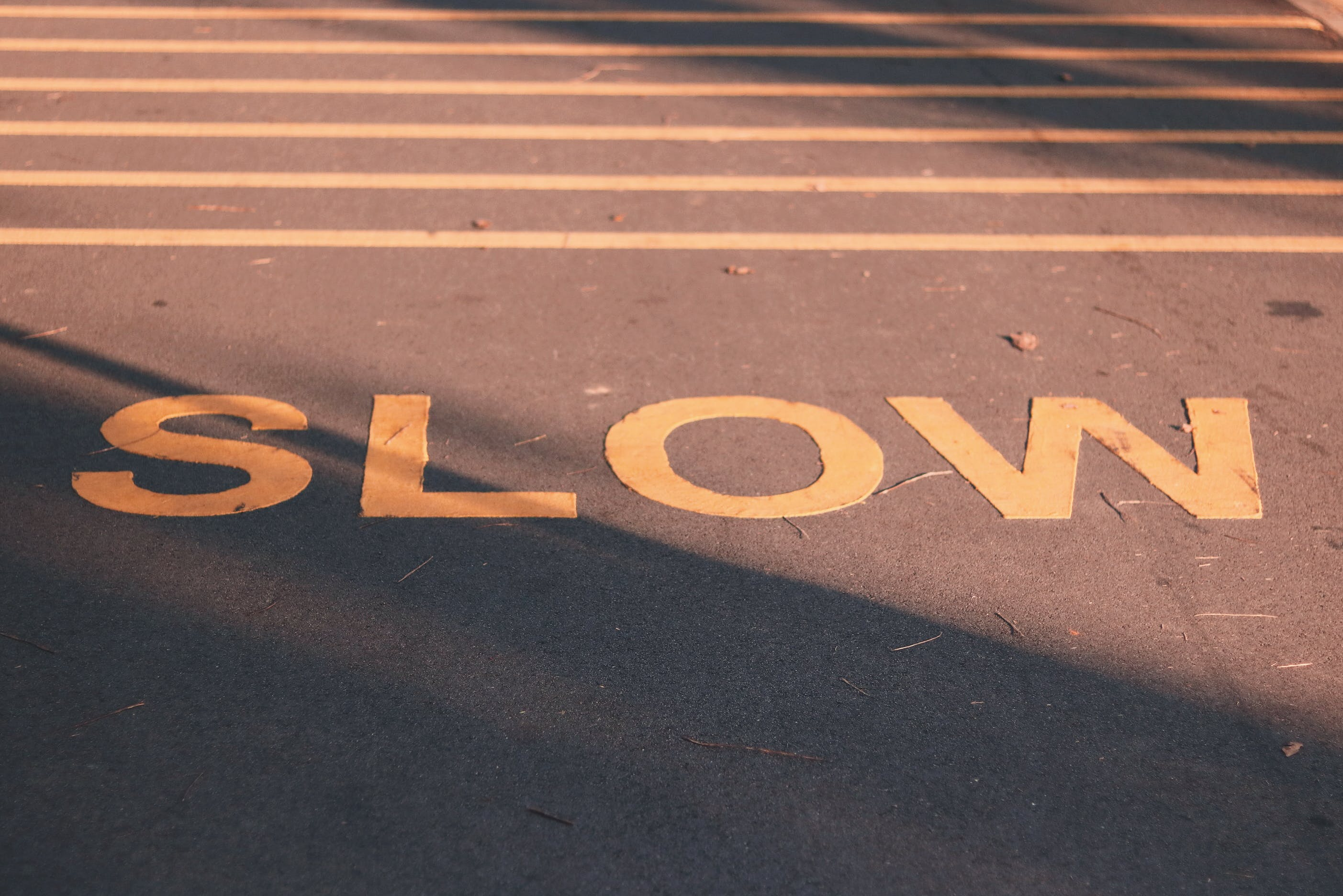 acostamento, alerta, asfalto