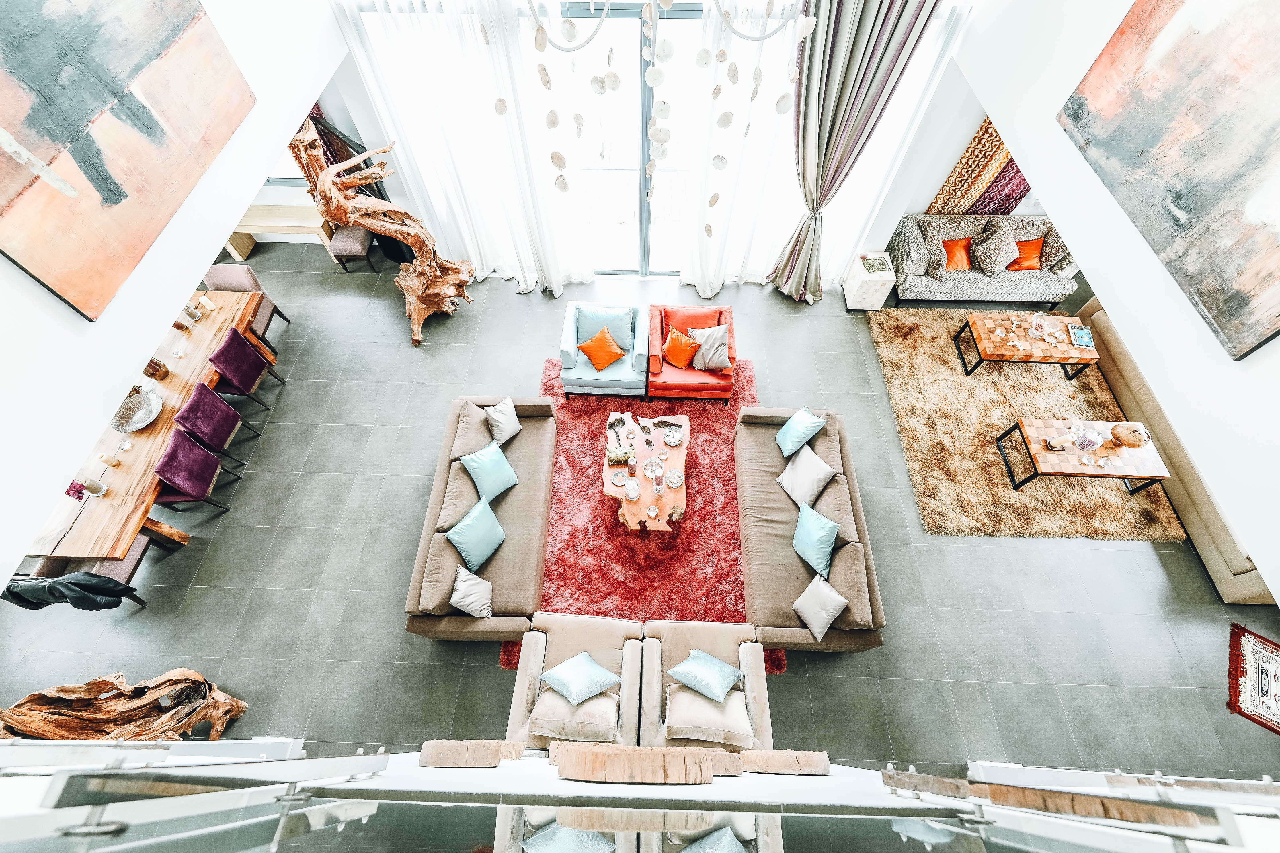 Foto stok gratis Apartemen, bagian dalam, bangku, bantalan
