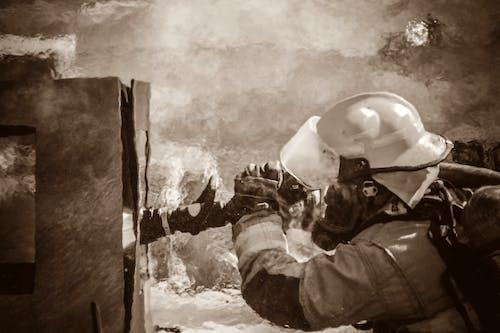 Ilmainen kuvapankkikuva tunnisteilla palomies, tuli