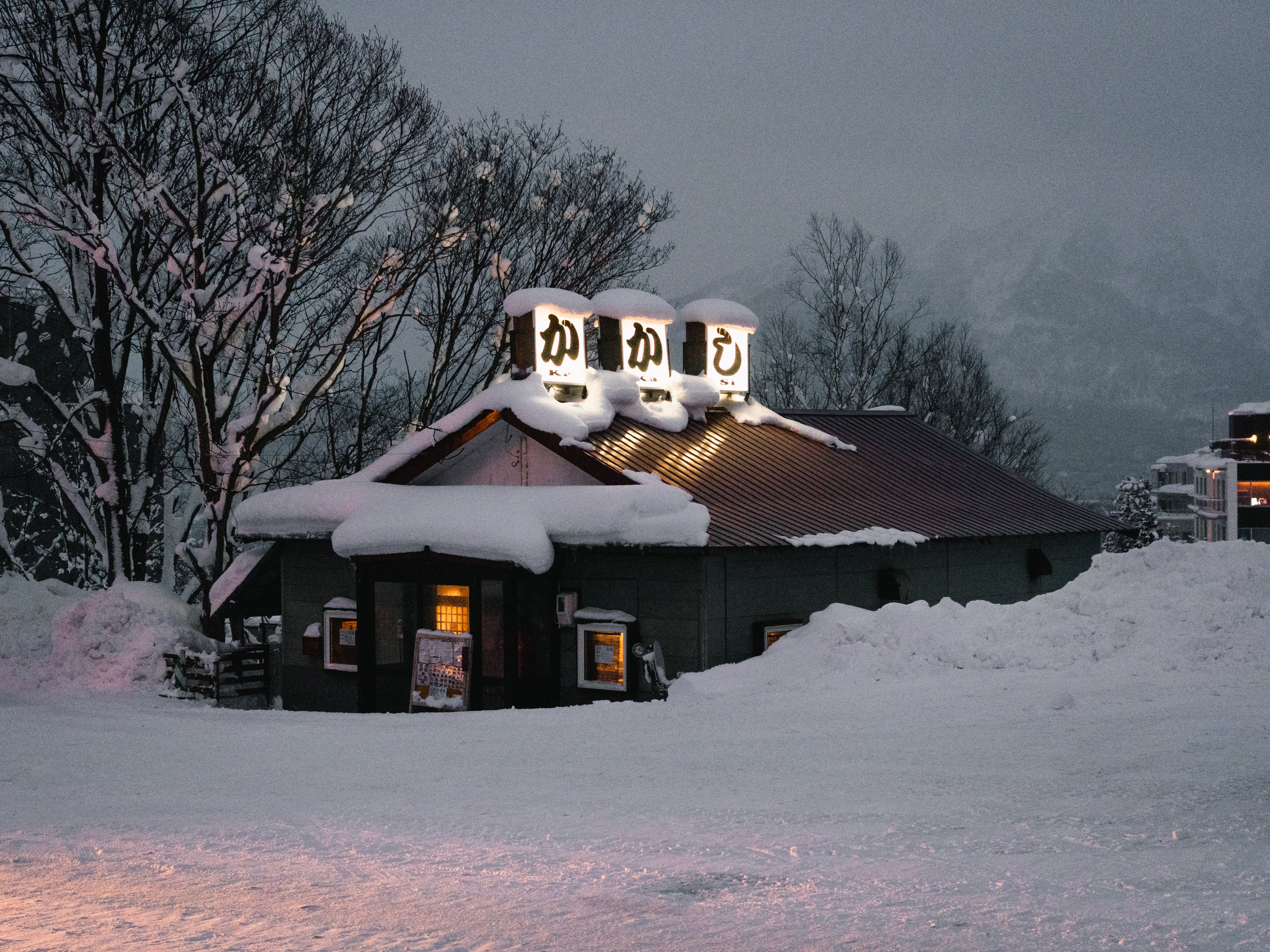 Photo of Building Covered With Snow