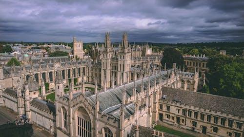 Základová fotografie zdarma na téma architektura, budova, gotický, letecký snímek