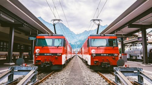 Ảnh lưu trữ miễn phí về đường ray xe lửa, ga xe lửa, hệ thống giao thông, màu đỏ