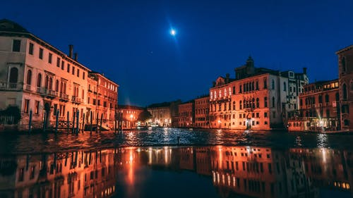 Venice, Grand Canal View during Night Time