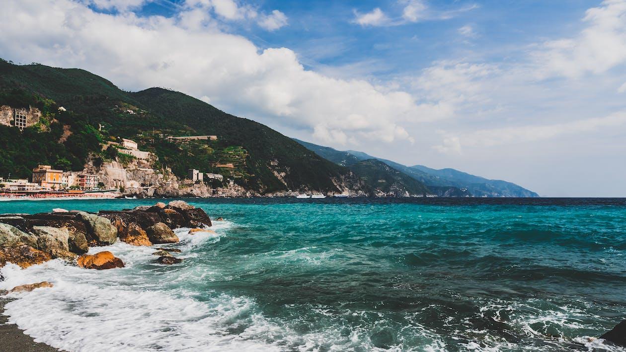 baie, bord de mer, cailloux