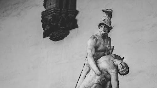Photos gratuites de art, noir et blanc, sculpture, statue