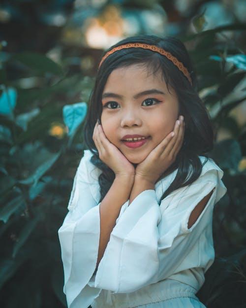 Fotobanka sbezplatnými fotkami na tému ázijské dieťa, ázijské dievča, čelenka, dieťa