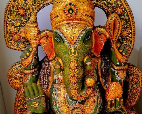Základová fotografie zdarma na téma ganesh, indický bůh, socha