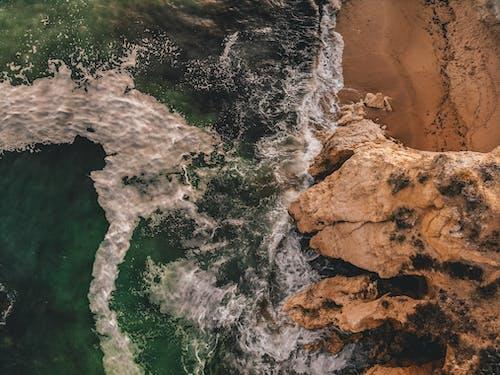 Foto stok gratis air, alam, fotografi drone, gelombang