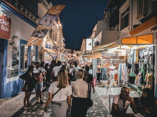 Gratis stockfoto met drukke straat, Europa, mediterraans, nacht