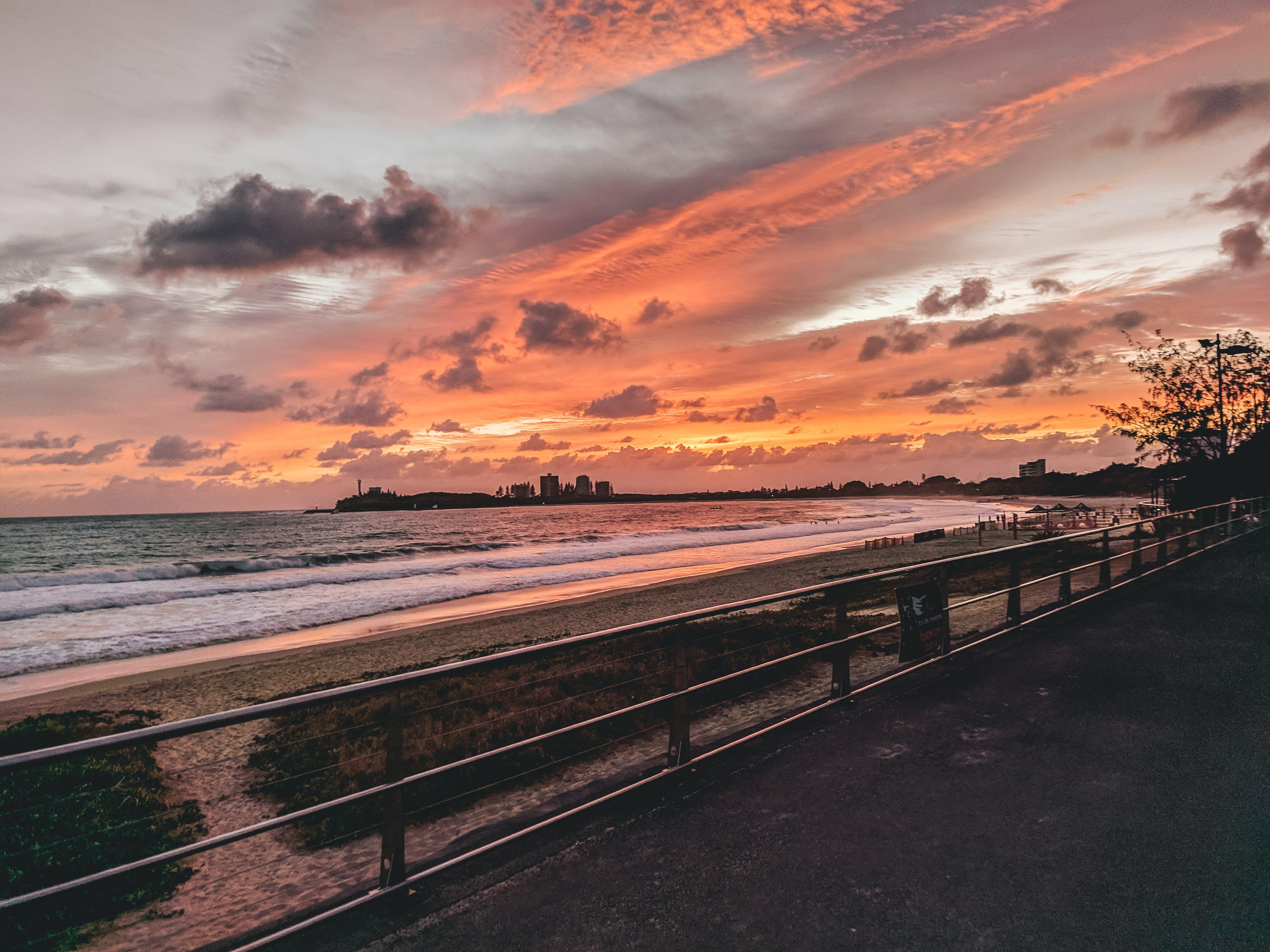 Foto profissional grátis de Austrália, litoral, mooloolaba, nascer do sol