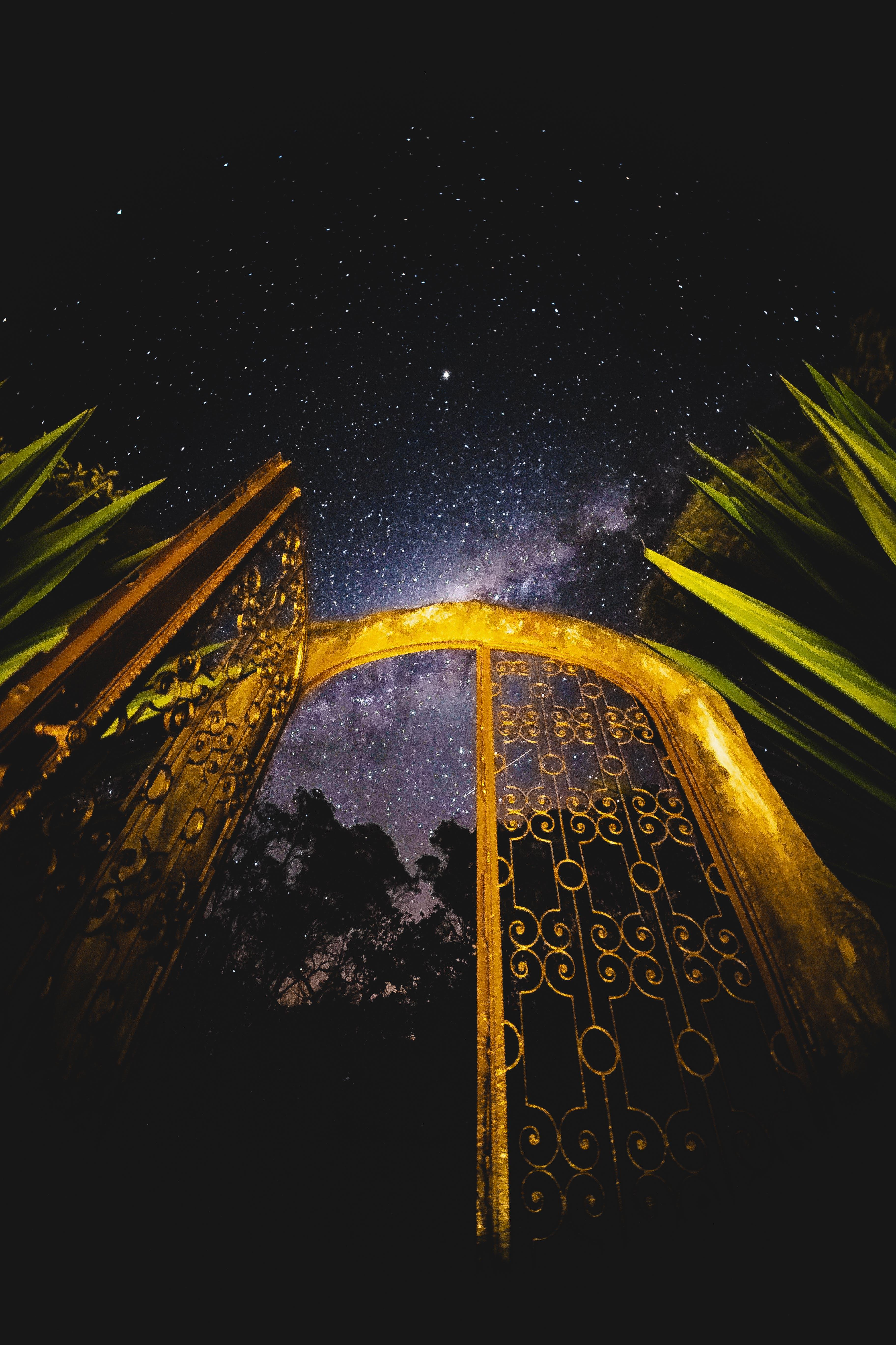 aydınlatılmış, golden gate içeren Ücretsiz stok fotoğraf