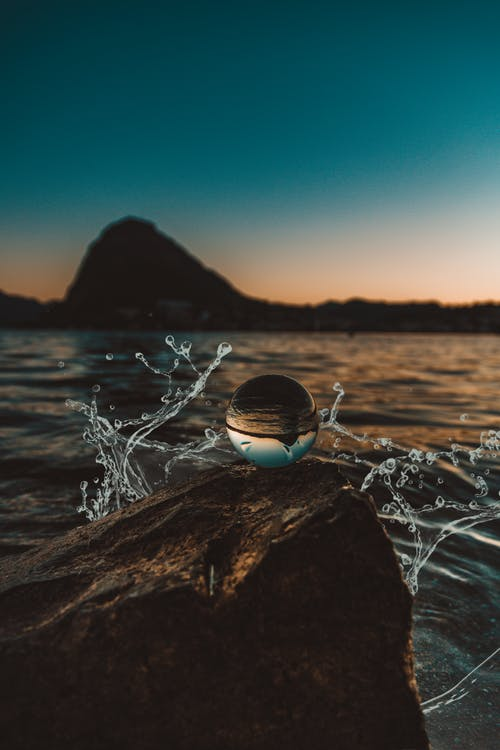 Photo of Lensball On Rock