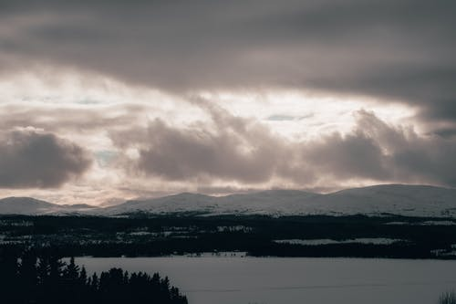 Free stock photo of mountain range, winter, winter background