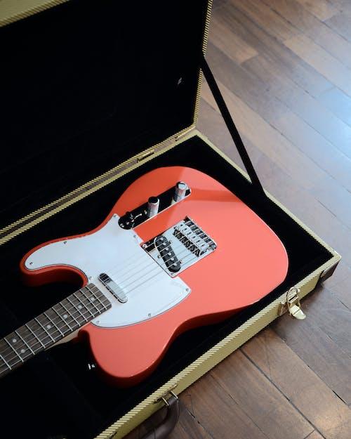 吉他, 吉他盒, 套子, 紅色吉他 的 免費圖庫相片