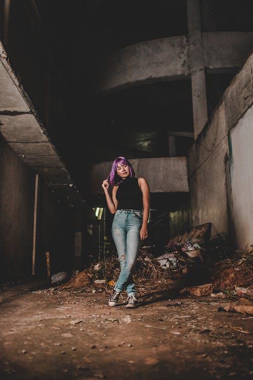Бесплатное стоковое фото с гламур, городской, грязный, девочка