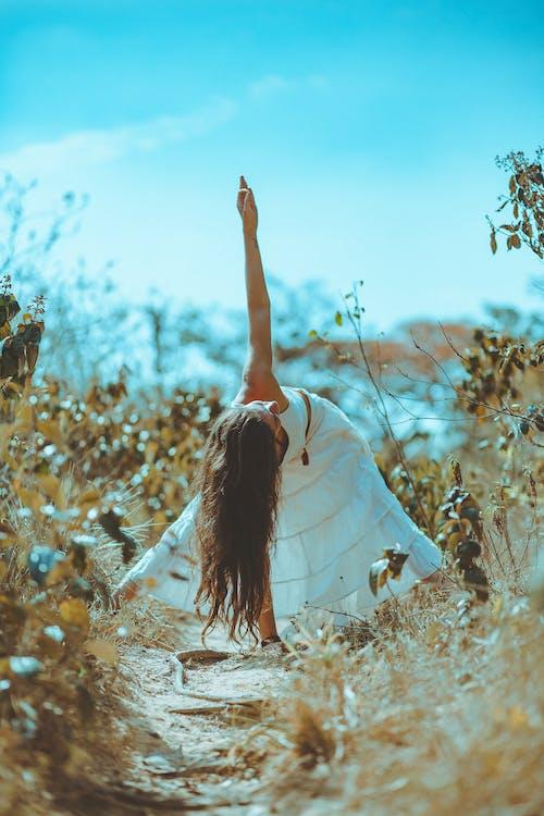 Бесплатное стоковое фото с женщина, йога, лето