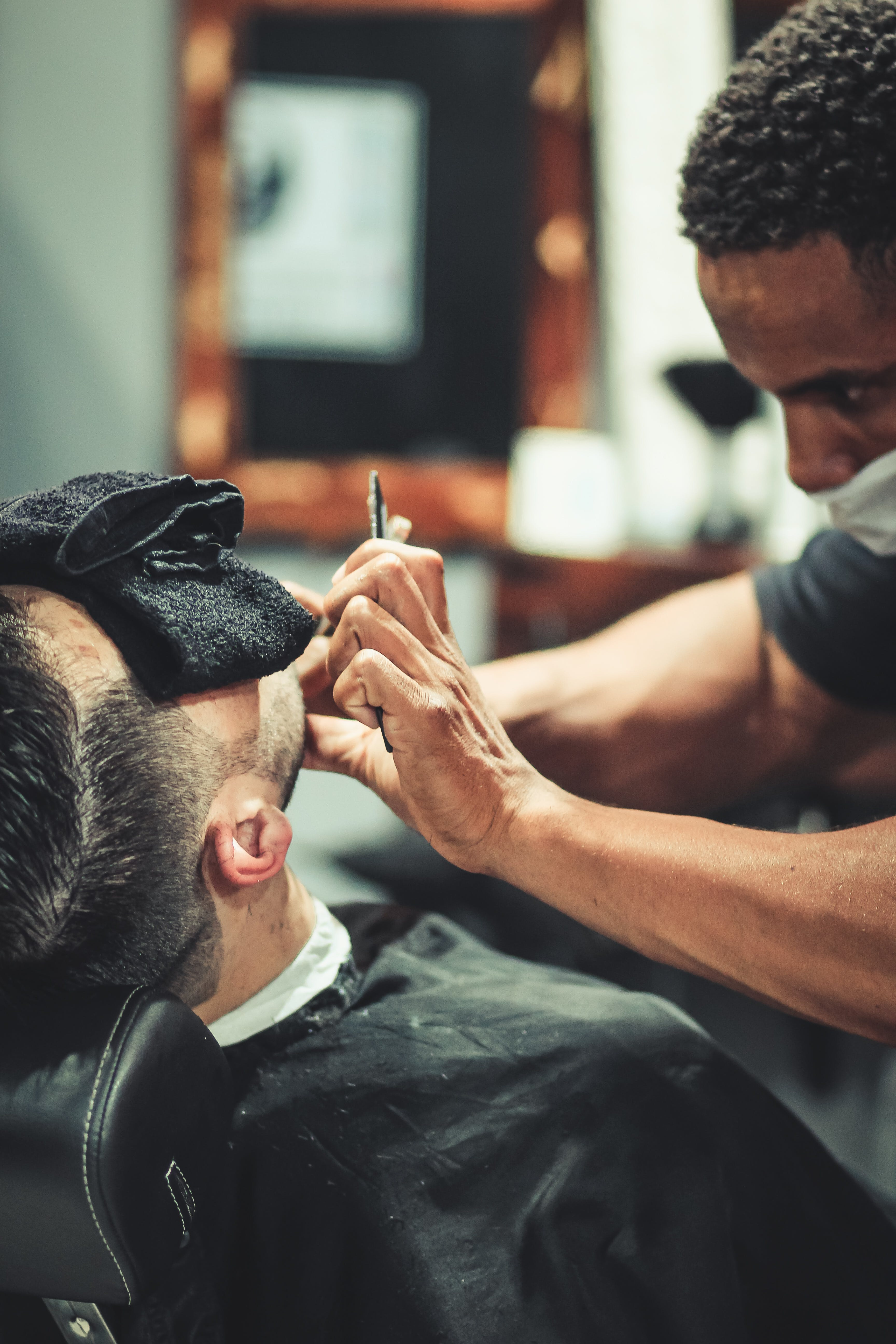 Man in Barber Shop