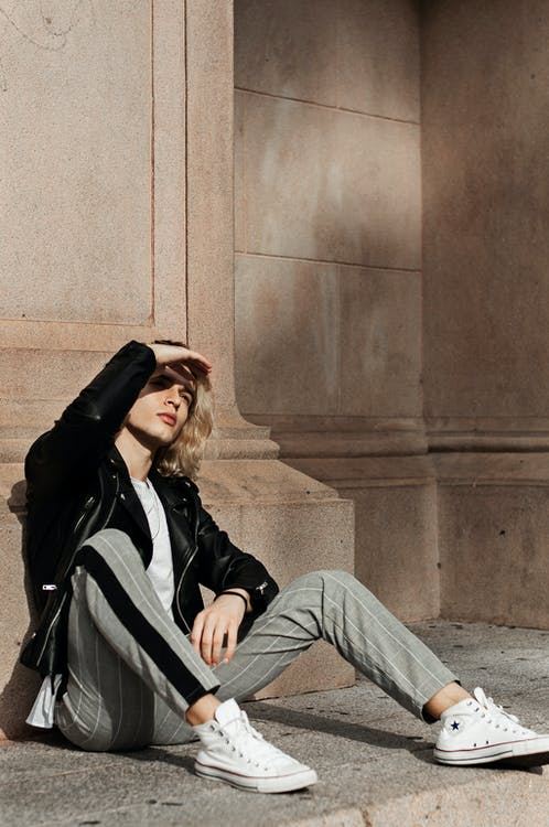 dinding, duduk, fashion