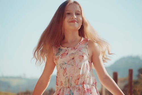 Free stock photo of beautiul, children, dress, girl