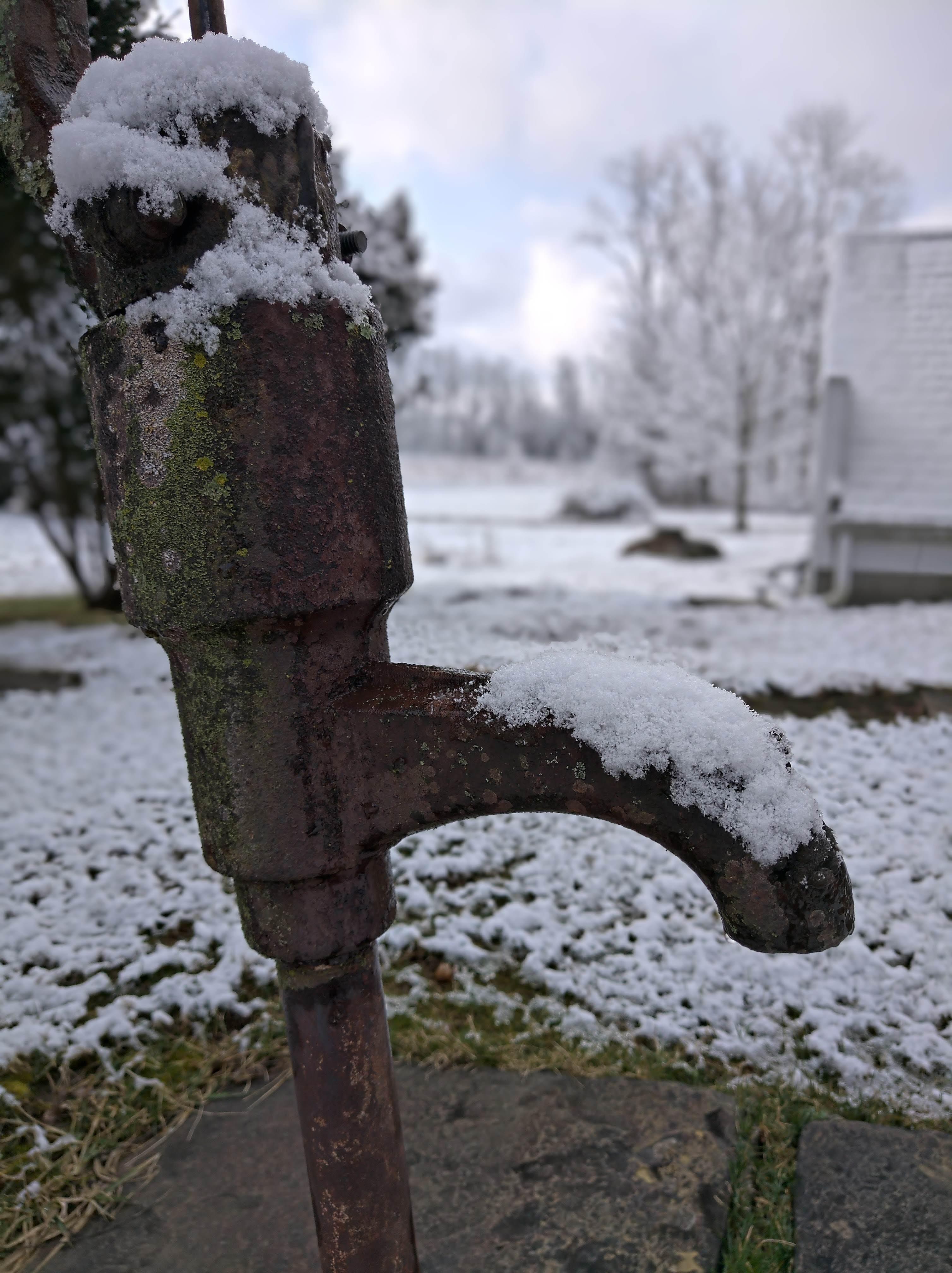 คลังภาพถ่ายฟรี ของ ปั๊มน้ำ, หิมะ