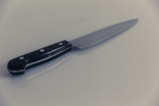Black and Silver Kitchen Knife