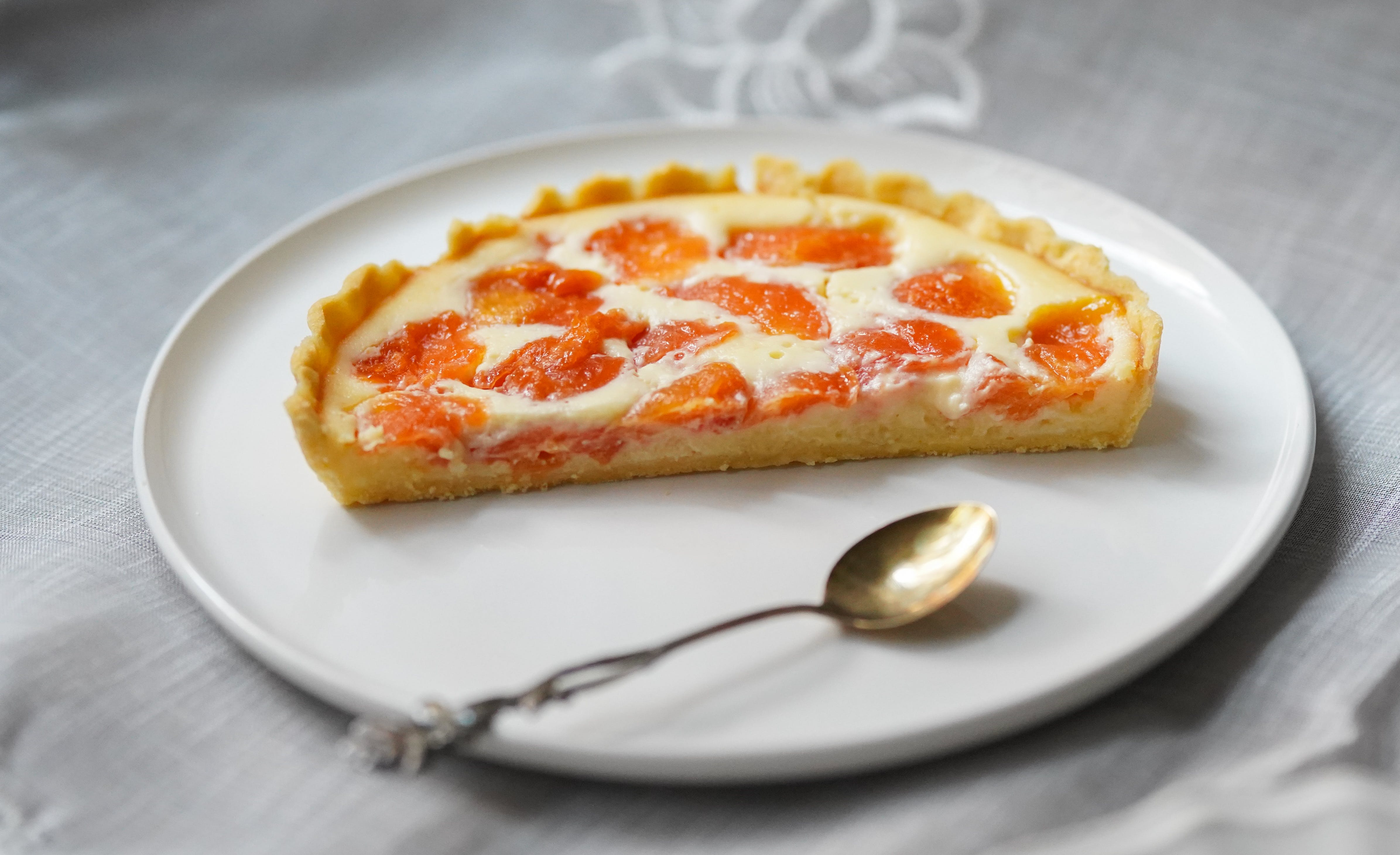 Baked Pie on Ceramic Plate