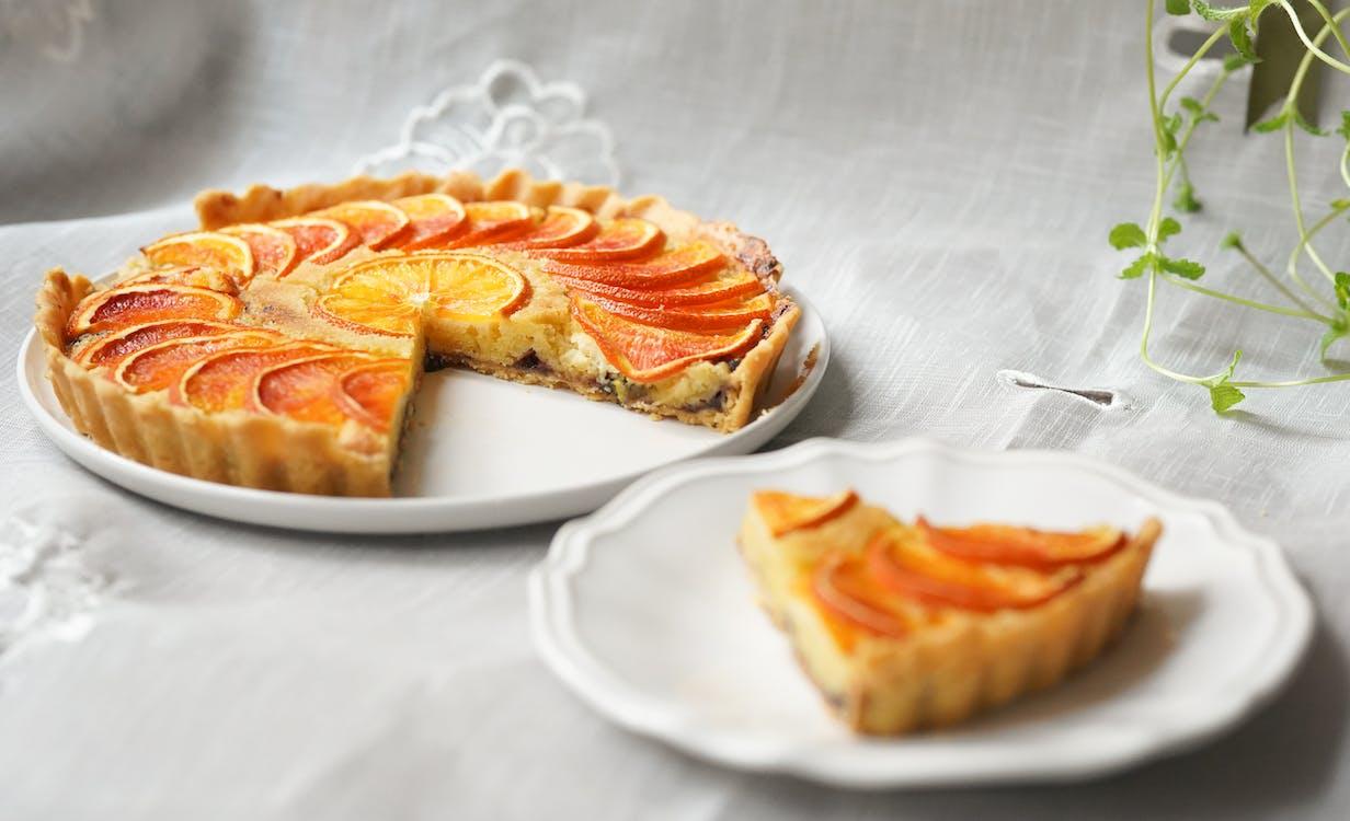 Slice Pie on White Plates