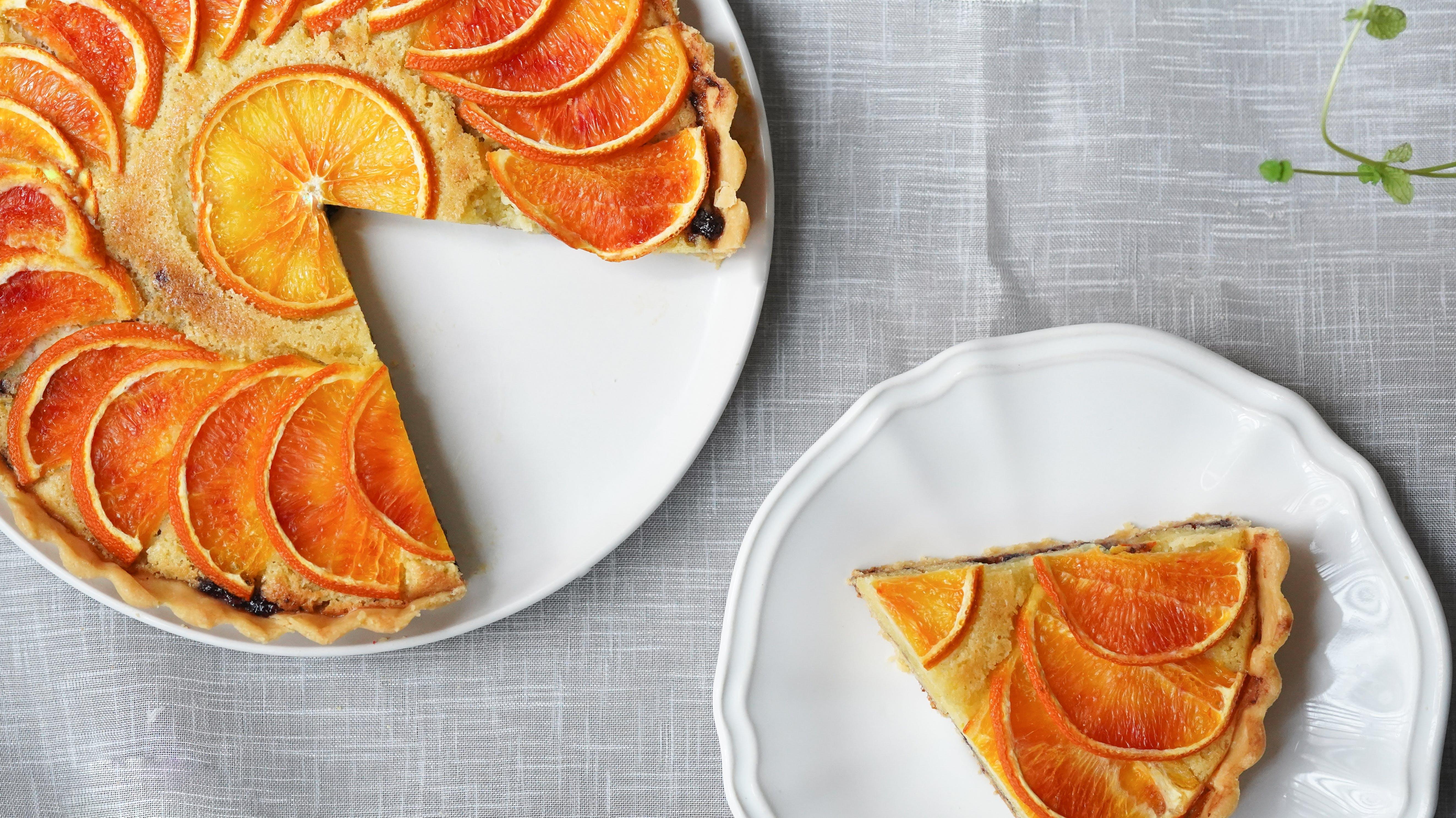 appelsin, bagt, delikat