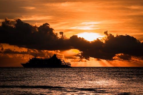 Free stock photo of cruise ship, fiji, golden, golden horizon