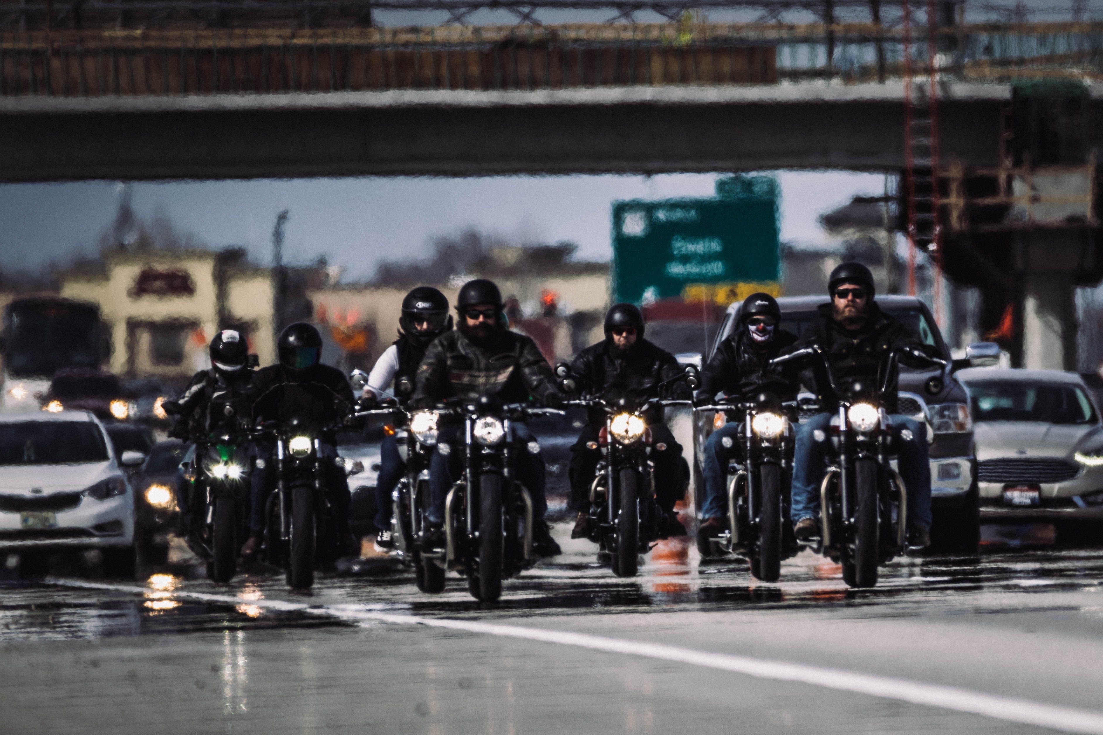 Kostenloses Stock Foto zu fata morgana, radfahrer, reiten, verkehr