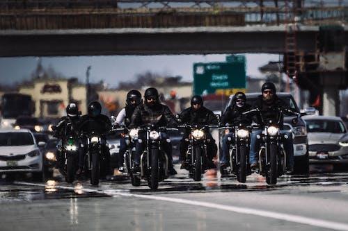 Free stock photo of bikers, mirage, riding, traffic