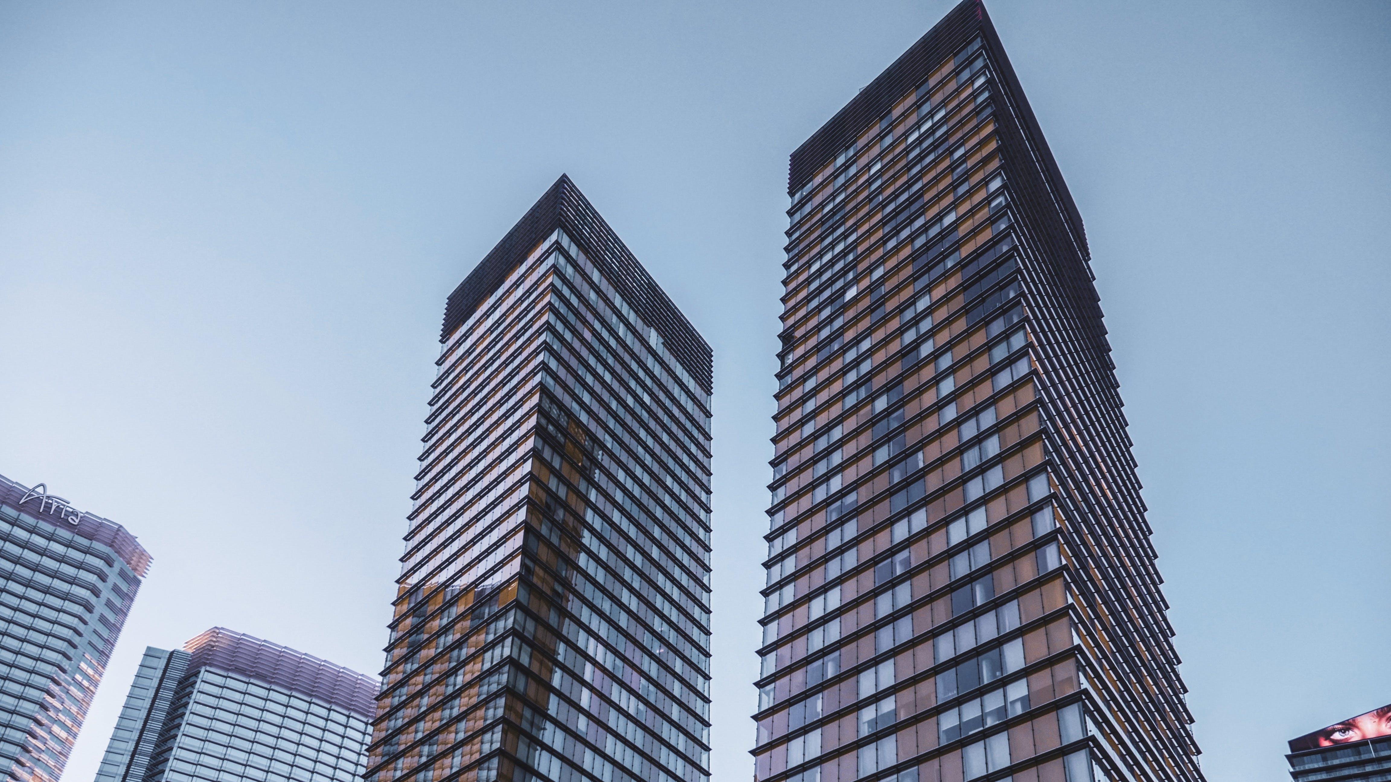 Kostenloses Stock Foto zu architektur, aufnahme von unten, futuristisch, gebäude