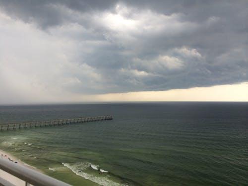 Free stock photo of beach, storm