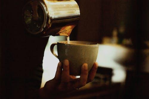 Základová fotografie zdarma na téma barista, caffè latte art, horko, hrnek