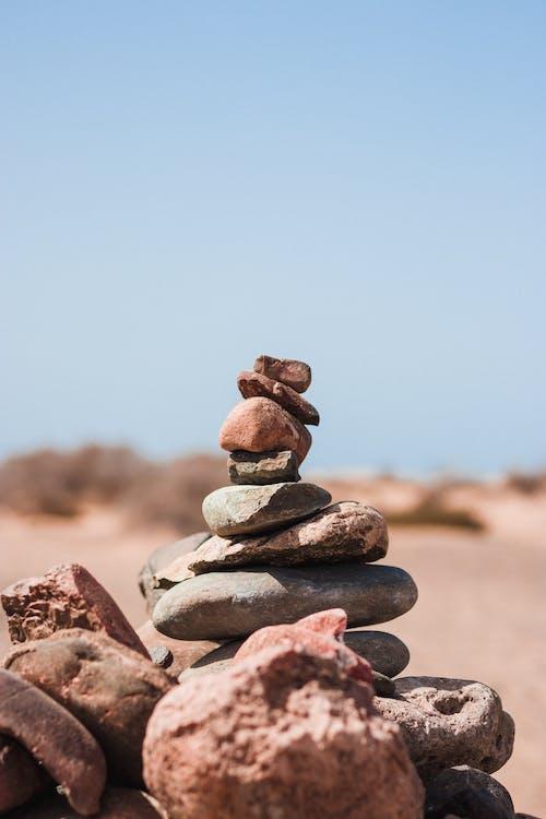Imagine de stoc gratuită din echilibru, grămadă, piatră în echilibru, pietre