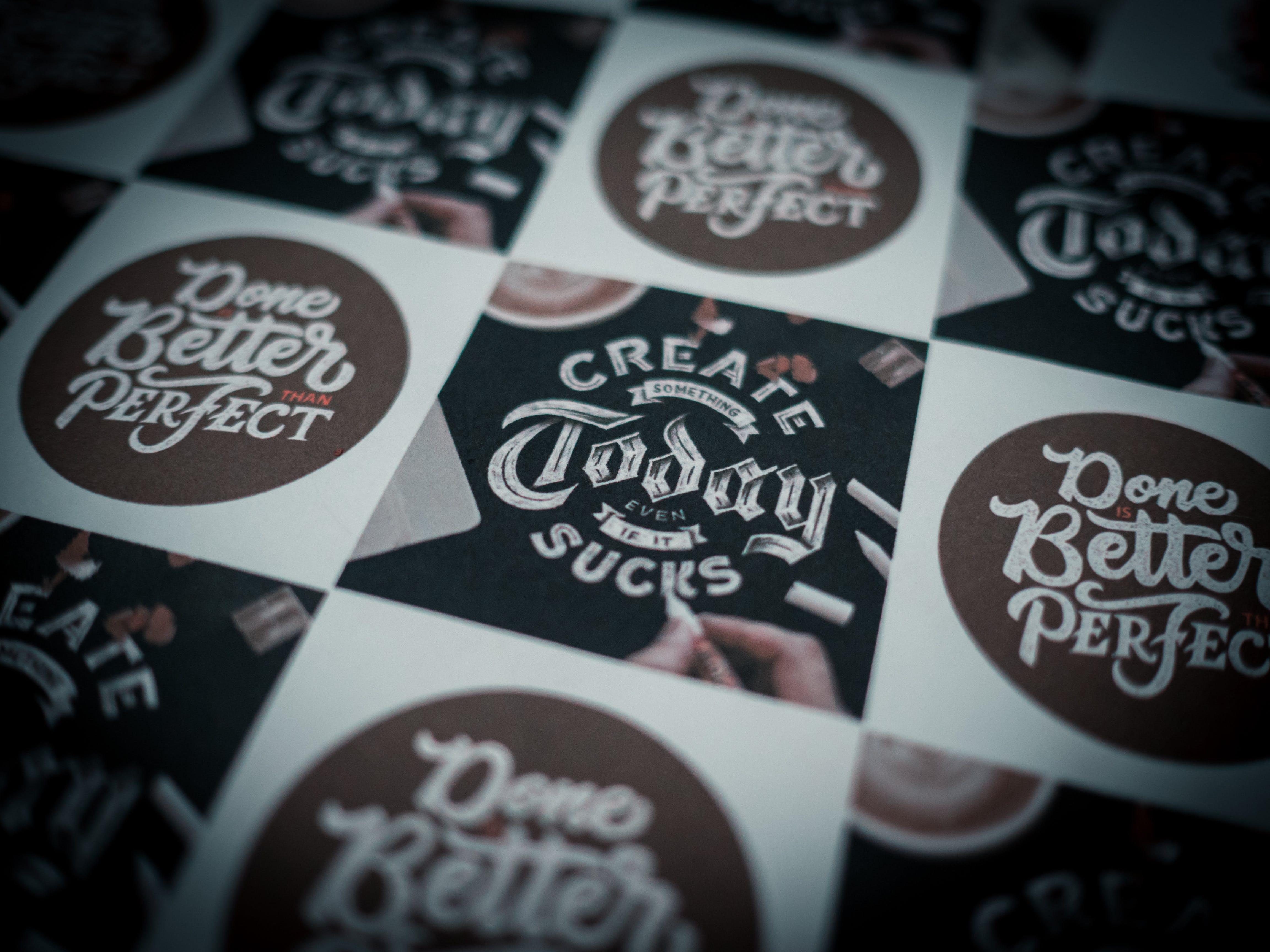 Free stock photo of create, creative, design, label