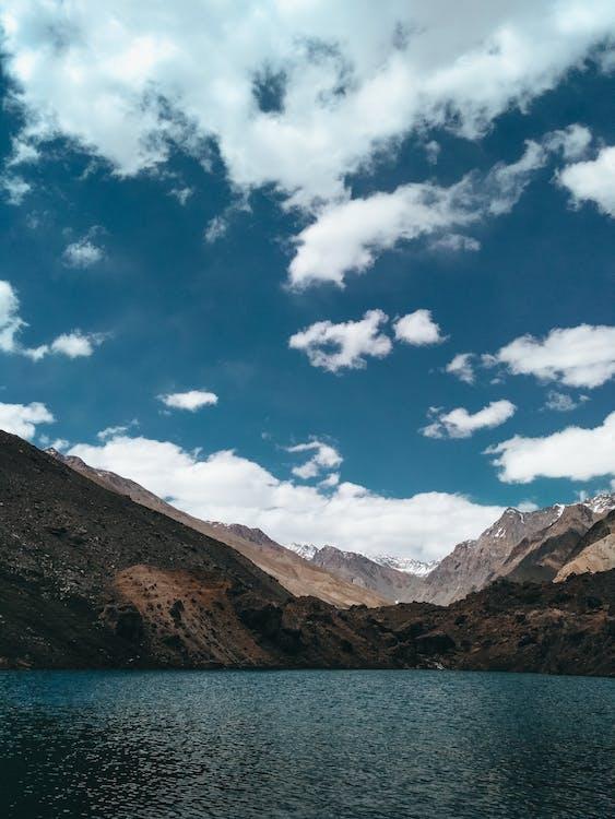 cel, muntanya, natura