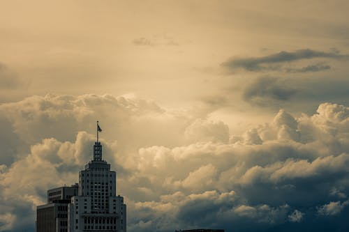 cloudscape, ゴールデンアワー, シティ, タワーの無料の写真素材
