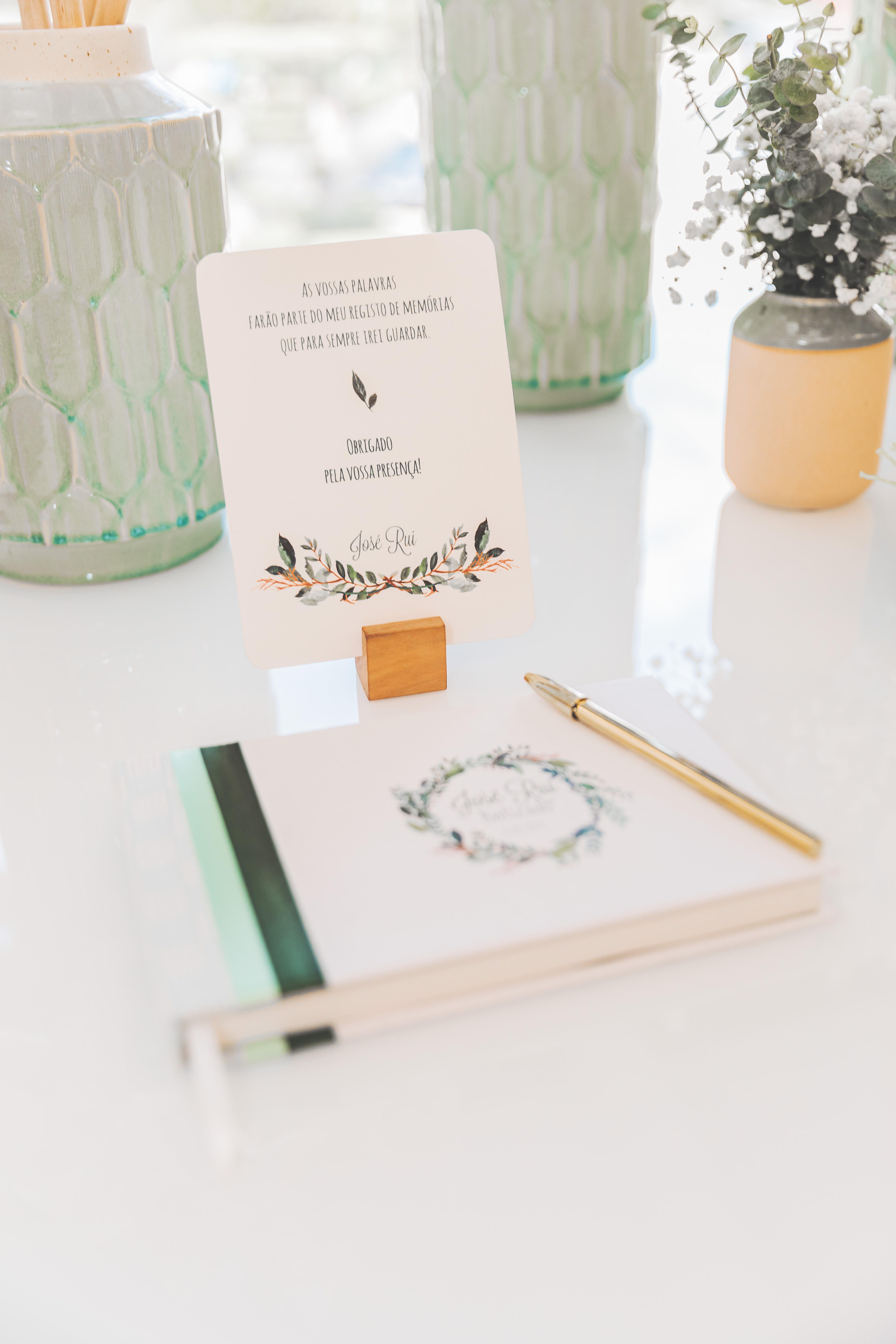 White Book on Table