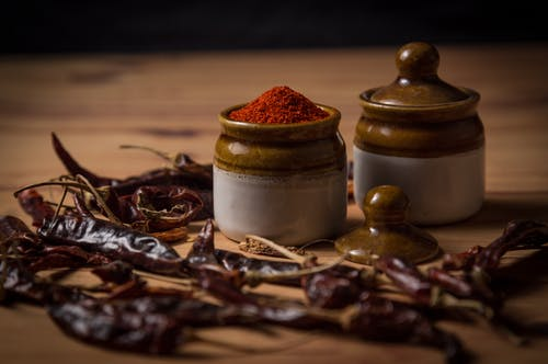 Selective-focus Photograph of Chili Powder