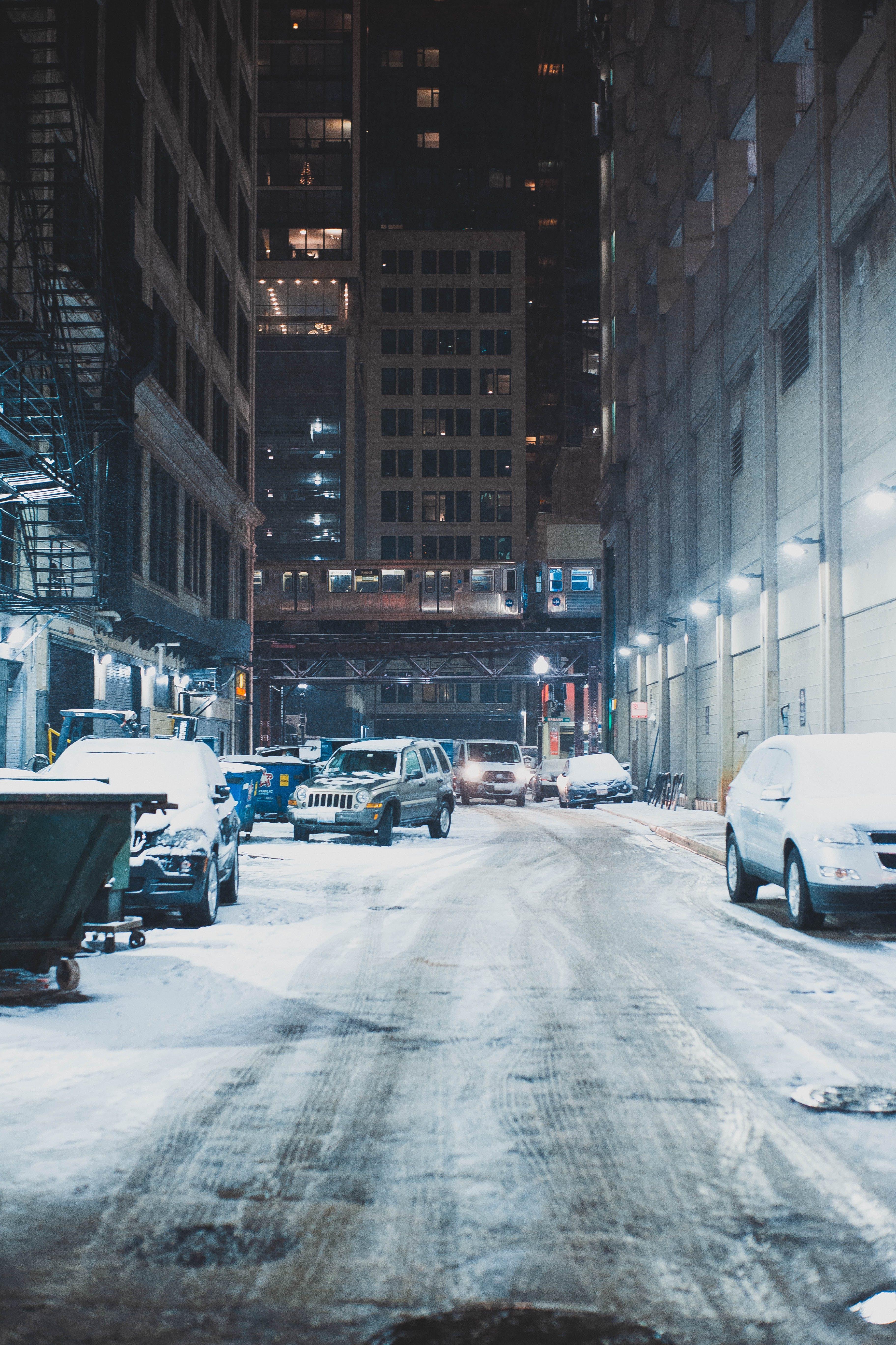 冬季, 城市, 建造, 汽車 的 免費圖庫相片