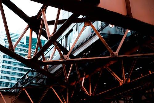 Darmowe zdjęcie z galerii z architektura, most, perspektywa żabia, pociąg