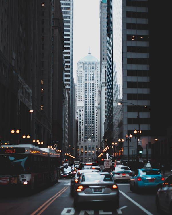 các tòa nhà, cảnh quan thành phố, chiếu sáng