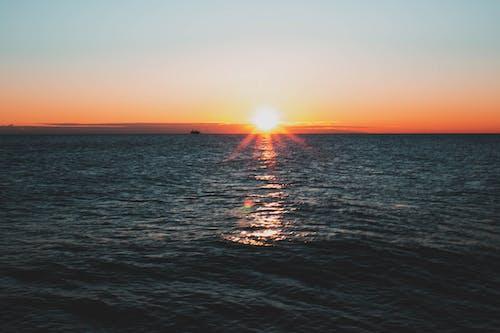 Ingyenes stockfotó ég, este, hajnal, hullámok témában