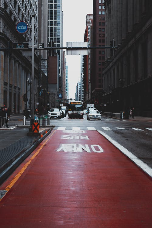Red and Gray Concrete Road