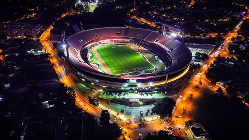 Aerial Photography Of Stadium