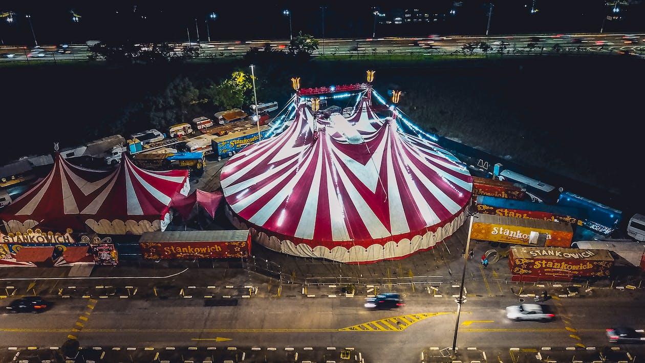 Ingyenes stockfotó cirkusz, felülről, fesztivál témában