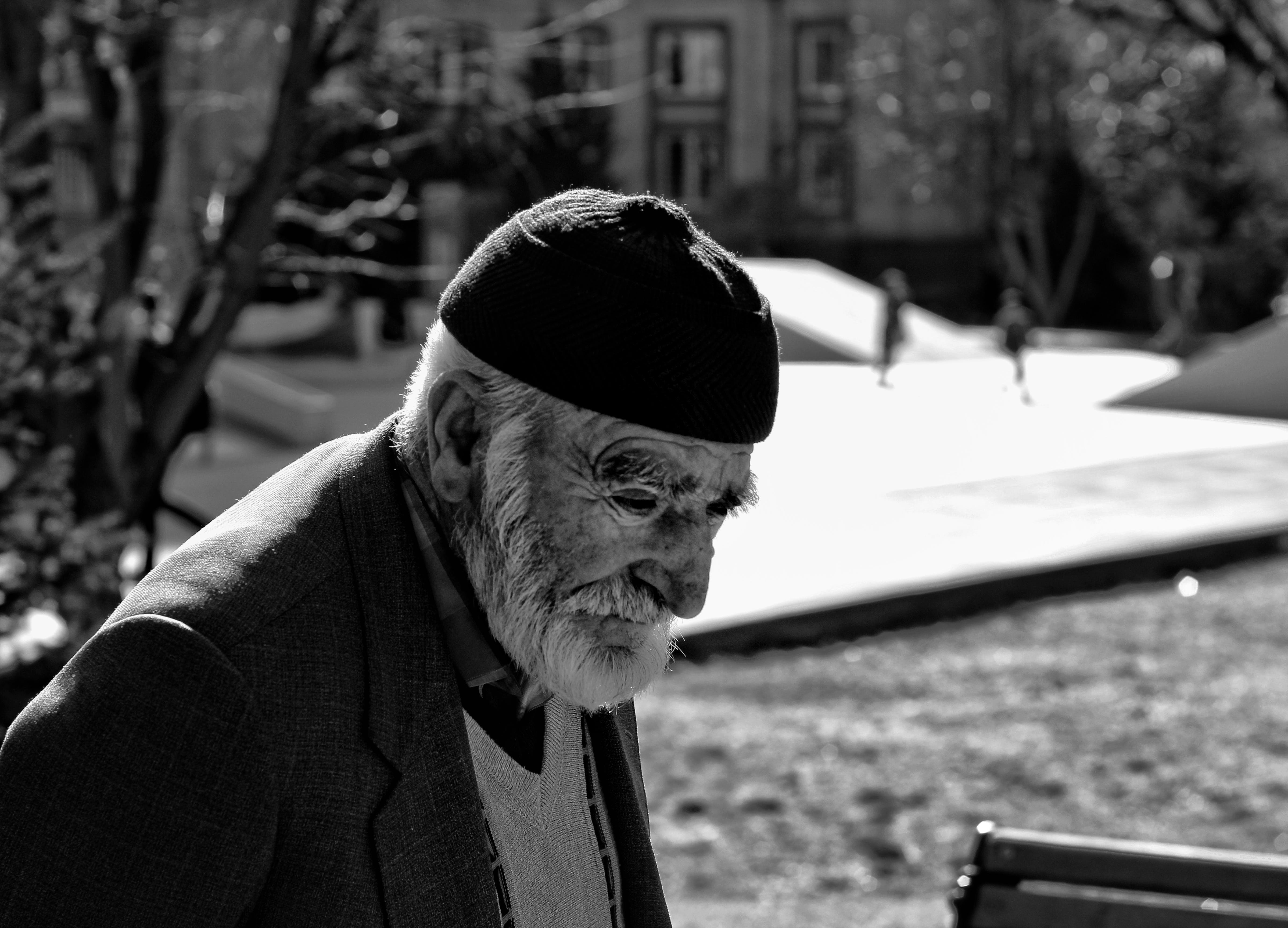 Free stock photo of bw, culture, mystery, old man